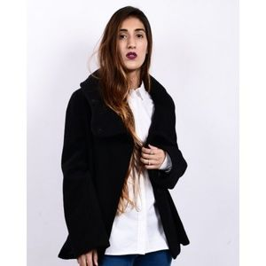 Zara Woman Short Coat With Hood